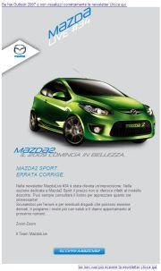 Mazda - Precisazione