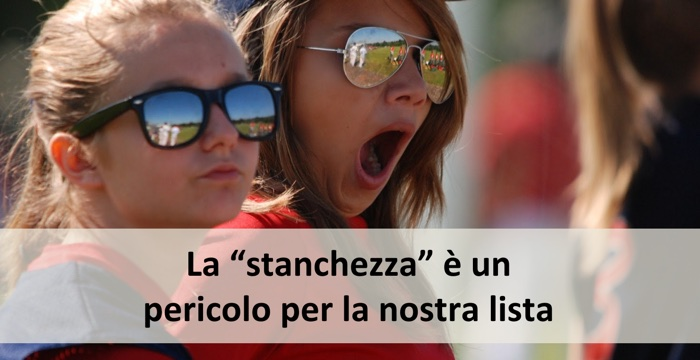 Email Marketing e Stanchezza