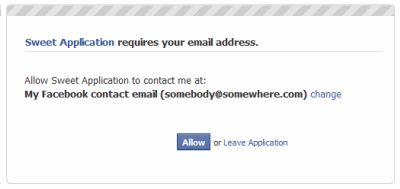 Facebook Email Opzionale