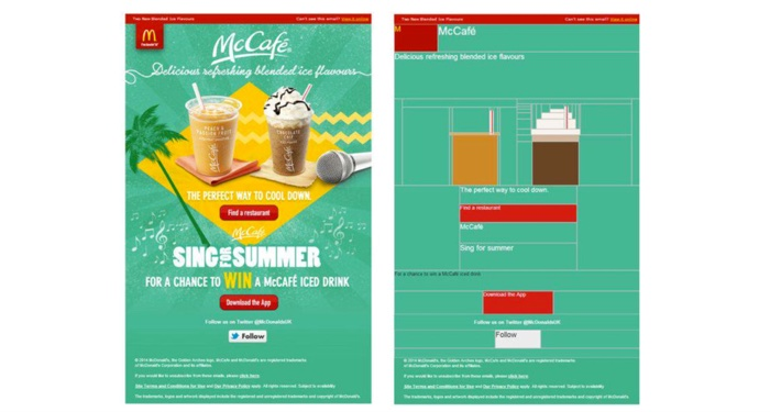 mccafe email campaign